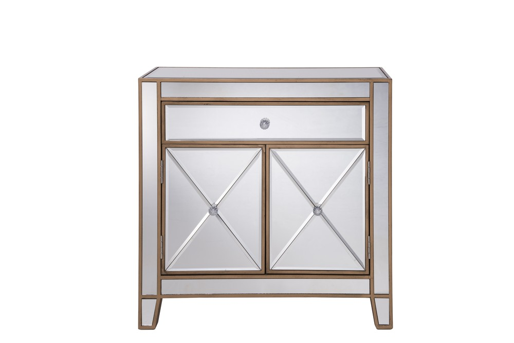Paradise Lighting in Mississauga, Ontario, Canada,  HV41Z, 1 Drawer 2 Doors Cabinet 28 in. x 13-1/4 in. x 28-1/4 in. in Gold paint, Contempo