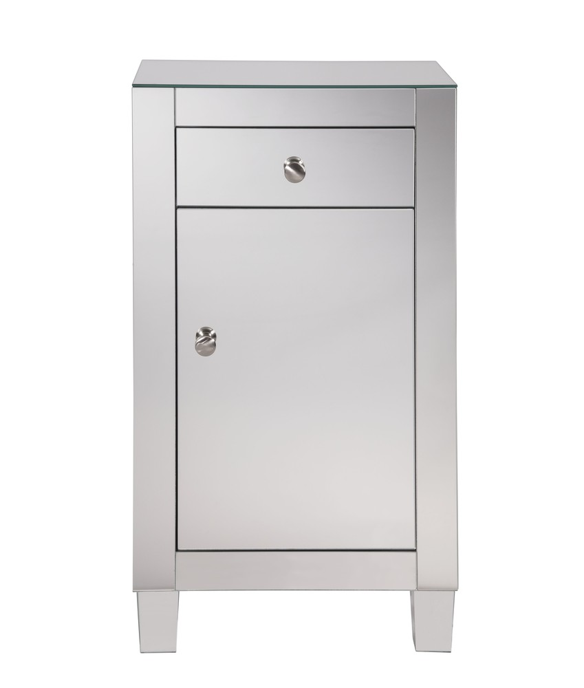 Paradise Lighting in Mississauga, Ontario, Canada,  HV421, 1 drawer 1 door cabinet 18 in. x 12 in. x 32 in. in Clear Mirror, Contempo