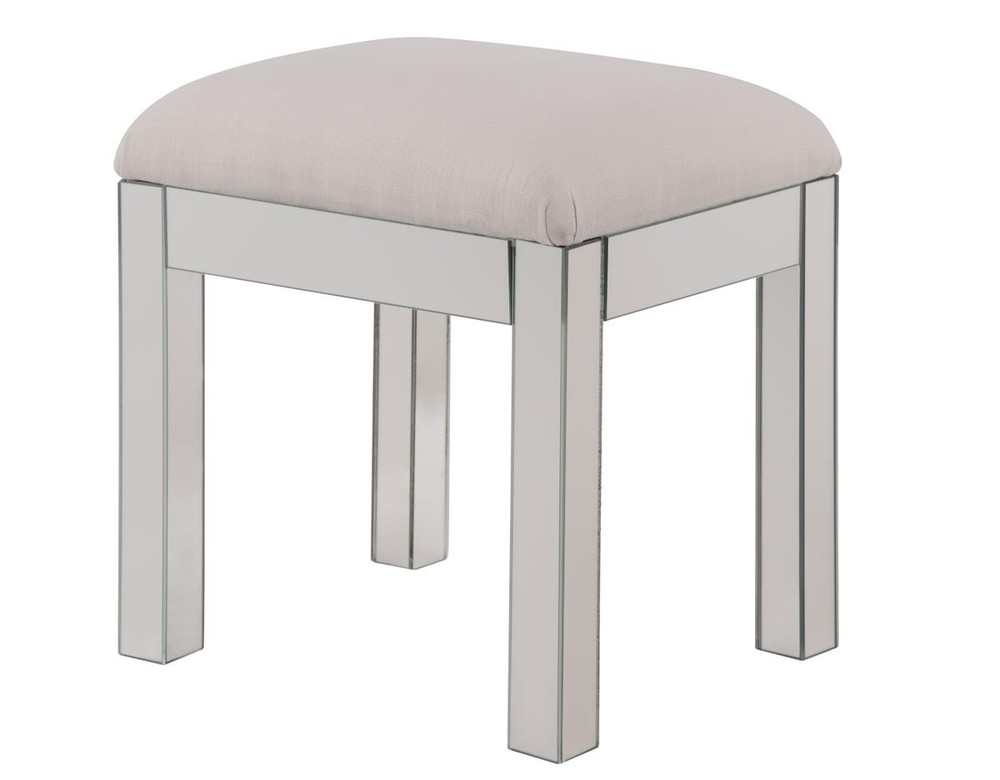 Paradise Lighting in Mississauga, Ontario, Canada,  HV427, Dressing stool 18 in. x 14 in. x 18 in. in Clear Mirror, Contempo