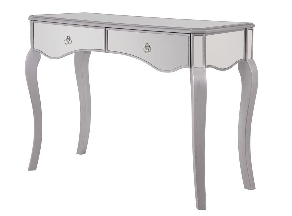 Paradise Lighting in Mississauga, Ontario, Canada,  HV429, 2 Drawers Dressing table 42 in. x 18 in. x 31 in. in Silver paint, Contempo