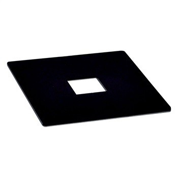COVER PLATE FOR JUNCTION BOX, BLACK