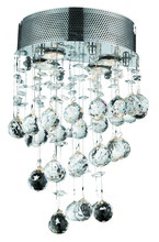 Elegant V2024W12C/RC - 2024 Galaxy Collection Wall Sconce D:12in H:16in E:2in Lt:2 Chrome Finish (Royal Cut Crystals)