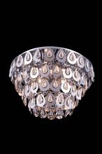 Elegant 2903F24C/RC - 2903 Sophia Collection Flush Mount D: 24in H: 14in Lt: 8 Chrome Finish (Royal Cut Crystals)