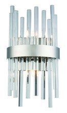 Elegant 3000W8C - 3000 Dallas Collection Wall Sconce D:7.8in H:14in E:4in Lt:2 Chrome&Clear Finish (Royal Cut Crystals