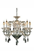 Elegant 7871D26C/RC - 7871 Aurora Collection Chandelier D:26in H:24in Lt:8 Chrome Finish (Royal Cut Crystals)