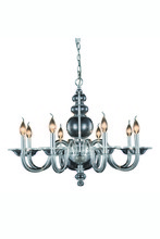 Elegant 7872D30C - 7872 Champlain Collection Chandelier D:30in H:22in Lt:8 Chrome Finish