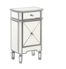 Elegant MF6-1015S - 1 Drawer 1 Door Cabinet 18 in. x 12 in. x 32 in. in Silver paint