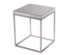 Elegant MF6-3002 - lamp table 20 in. x 20 in. x 25 in. in Clear Mirror
