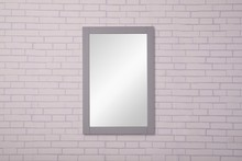 Elegant VM-2002 - Saturn 22 in. Contemporary Mirror in Medium Grey