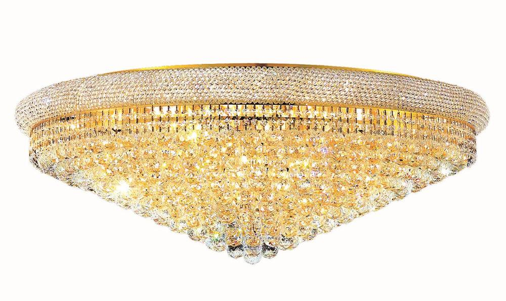Primo 30 light Gold Flush Mount Clear Royal Cut Crystal